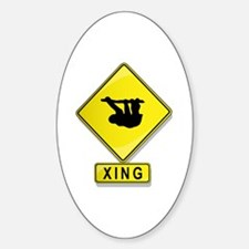 Sloth XING Oval Decal