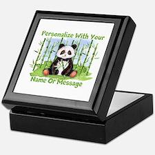Personalized Panda Bamboo Keepsake Box