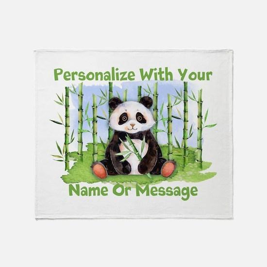 Personalized Panda Bamboo Throw Blanket