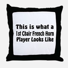 1st Chair French Horn Throw Pillow