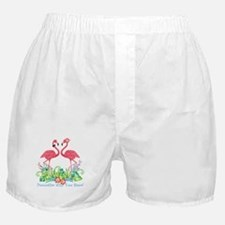 PERSONALIZED Flamingo Couple Boxer Shorts