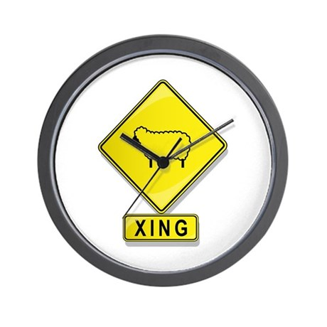 Sheep XING Wall Clock