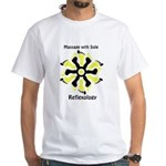 Reflexology Yellow & Black White T-Shirt
