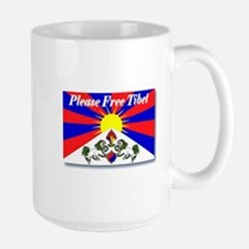 Please Free Tibet Large Mug