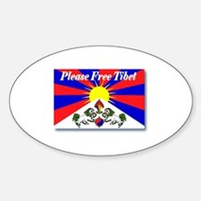 Please Free Tibet Oval Decal