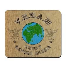 VEGAN -truly living green Mousepad