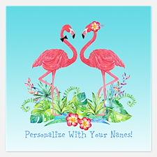 PERSONALIZED Flamingo Couple Invitations