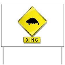 Scutosaur XING Yard Sign