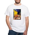 Cafe /Pekingese (r) White T-Shirt