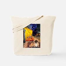 Cafe /Pekingese (r) Tote Bag