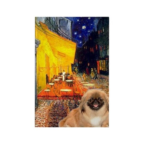 Cafe /Pekingese (r) Rectangle Magnet (10 pack)