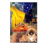 Cafe /Pekingese (r) Postcards (Package of 8)