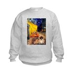 Cafe /Pekingese (r) Kids Sweatshirt