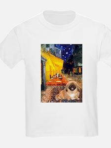 Cafe /Pekingese (r) T-Shirt