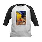 Cafe /Pekingese (r) Kids Baseball Jersey