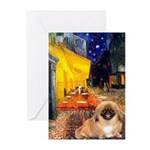 Cafe /Pekingese (r) Greeting Cards (Pk of 10)