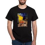 Cafe /Pekingese (r) Dark T-Shirt