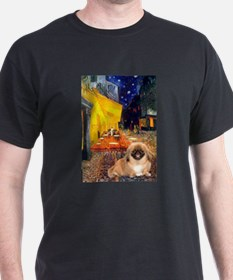 Cafe /Pekingese (r) T-Shirt