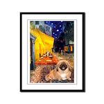 Cafe /Pekingese (r) Framed Panel Print