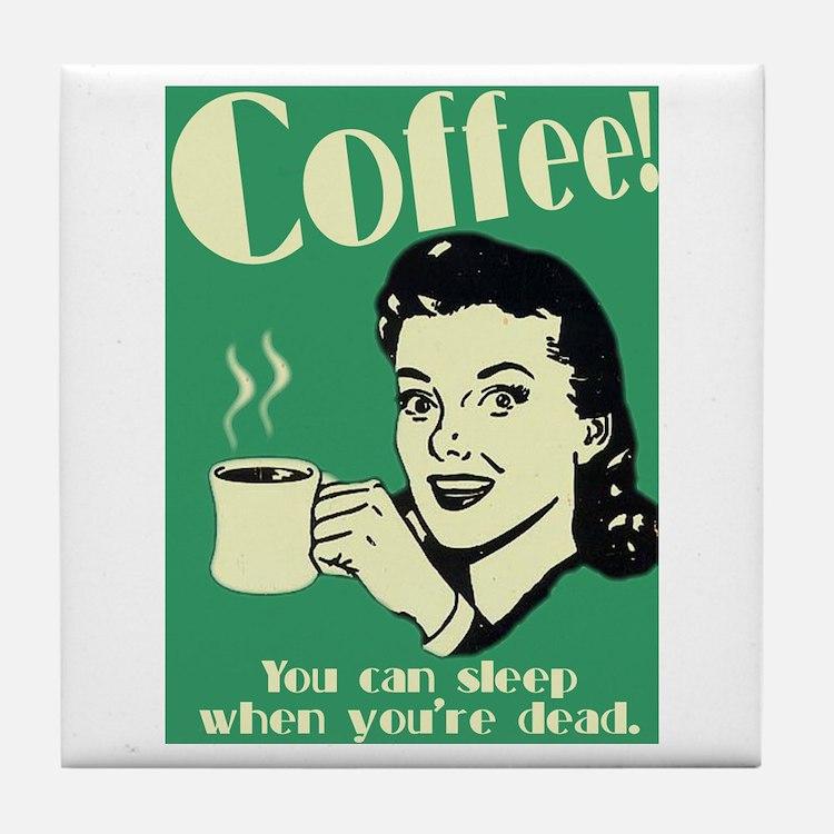 Cute Caffeine addict Tile Coaster