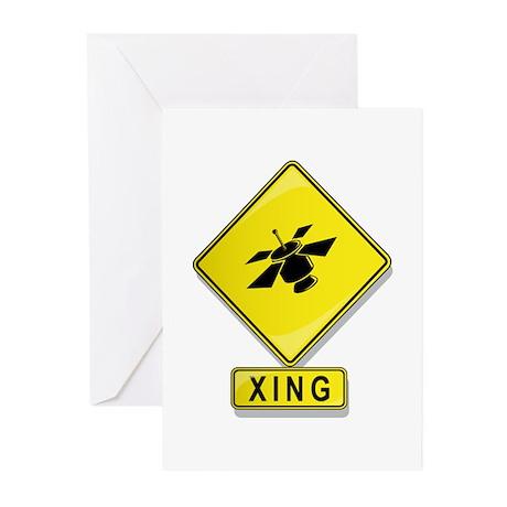 Satellite XING Greeting Cards (Pk of 10)
