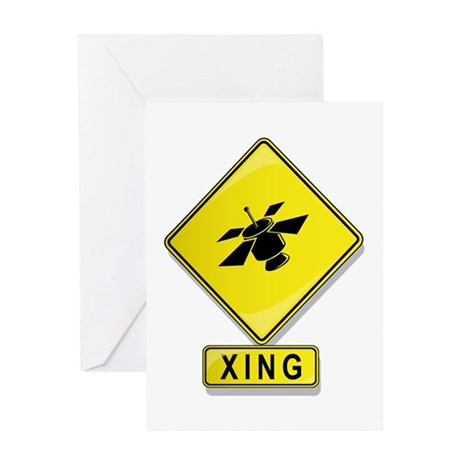 Satellite XING Greeting Card