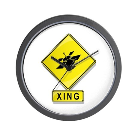 Satellite XING Wall Clock