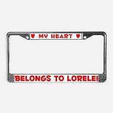 Heart Belongs to Lorelei - License Plate Frame