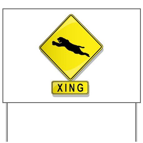 Saber Tooth Cat XING Yard Sign