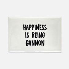 Happiness is being Gannon Rectangle Magnet