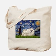 Starry / Pekingese(w) Tote Bag