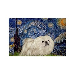 Starry / Pekingese(w) Rectangle Magnet