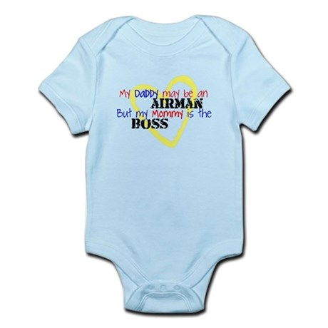 Daddy AIRMAN Mommy Boss Infant Bodysuit