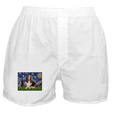 Starry Night & Basset Boxer Shorts