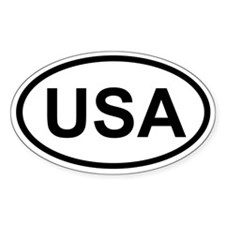 USA Oval Decal