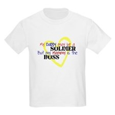 Daddy SOLDIER Mommy Boss T-Shirt