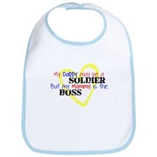 Daddy SOLDIER Mommy Boss Bib