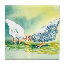 Chickens Tile Coaster