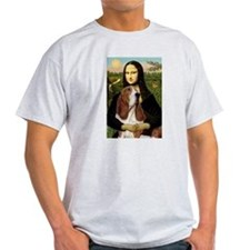 Mona Lisa (new) & Basset Ash Grey T-Shirt