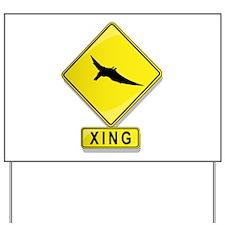 Pteranodon XING Yard Sign