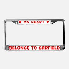 Heart Belongs to Garfield - License Plate Frame
