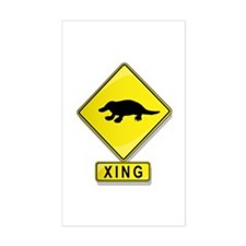 Platypus XING Rectangle Decal