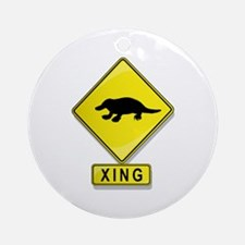 Platypus XING Ornament (Round)
