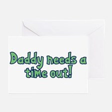 Time Out Dad Greeting Cards (Pk of 20)