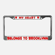 Heart Belongs to Brooklynn - License Plate Frame