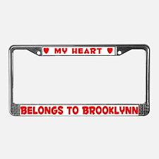 Heart Belongs to Brooklynn - License Plate Frame