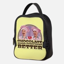 I Love Lucy: Chocolate Makes Ev Neoprene Lunch Bag