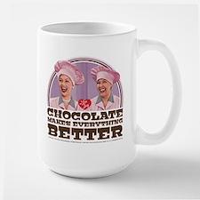 I Love Lucy: Chocolate Makes Everything Large Mug