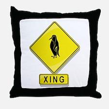 Penguin XING Throw Pillow