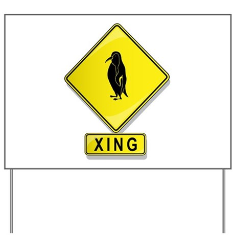Penguin XING Yard Sign